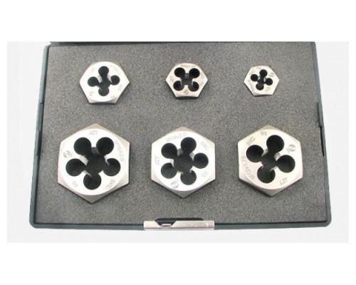 Набор шестигранных плашек М6-М16 9ХС (6 предметов)